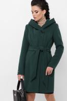 зимнее черное пальто. Пальто П-311 з. Цвет: 7214-зеленый цена