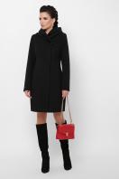 зимнее черное пальто. Пальто П-311 з. Цвет: черный в интернет-магазине