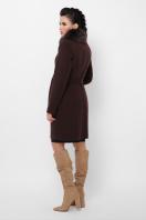 бежевое пальто с меховой опушкой. Пальто П-330-90 з. Цвет: 6099-коричневый в Украине