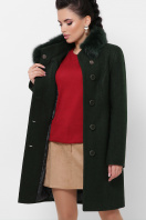 . Пальто П-333-з мех. Цвет: 2105-т.зеленый купить