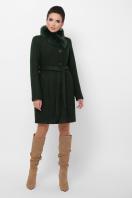 . Пальто П-333-з мех. Цвет: 2105-т.зеленый цена