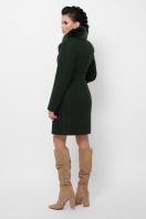. Пальто П-333-з мех. Цвет: 2105-т.зеленый в интернет-магазине