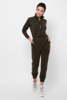 темно-серый женский комбинезон. комбинезон Дилси д/р. Цвет: хаки в интернет-магазине