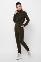 темно-серый женский комбинезон. комбинезон Дилси д/р. Цвет: хаки в Украине