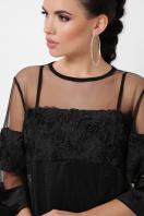 нарядное двойное платье. платье Хелма 3/4. Цвет: черный 1 в интернет-магазине