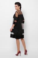 двойное платье больших размеров. платье Хелма-Б 3/4. Цвет: черный 1 в Украине