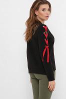 кофта аниме со шнуровкой. Девочка с яблоком Свитшот Аниме (зима) д/р. Цвет: черный в интернет-магазине