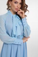 синее платье из креп-шифона. платье Аля д/р. Цвет: голубой в интернет-магазине