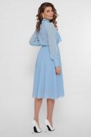 синее платье из креп-шифона. платье Аля д/р. Цвет: голубой в Украине
