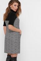 платье из букле с короткими рукавами. платье Дилора к/р. Цвет: букле ромб-черный в интернет-магазине