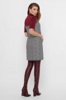 платье из букле с короткими рукавами. платье Дилора к/р. Цвет: букле ромб-бордо в интернет-магазине
