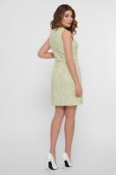 персиковое платье без рукавов. платье Элиана б/р. Цвет: оливковый в интернет-магазине