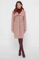 горчичное пальто на молнии. Пальто ПМ-29. Цвет: пудра купить