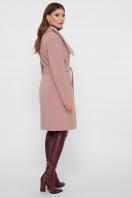 горчичное пальто на молнии. Пальто ПМ-29. Цвет: пудра цена