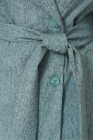 светлый плащ с поясом. Плащ М-111. Цвет: меланж зеленый в интернет-магазине