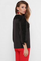 черная блузка с розами. блуза Флавия 3/4. Цвет: черный 1 цена