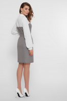 офисное серое платье. платье Линси д/р. Цвет: серый-роз.полос-бел.отд в Украине