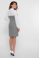 офисное серое платье. платье Линси д/р. Цвет: лапка м.черная-бел.отд. в интернет-магазине