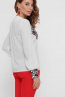 блузка из креп-шифона с принтом. Вышивка блуза Верика д/р. Цвет: белый цена