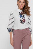 белая блузка с цветами. Цветы блуза Жули 3/4. Цвет: белый купить