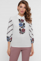 белая блузка с цветами. Цветы блуза Жули 3/4. Цвет: белый цена