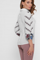 белая блузка с цветами. Цветы блуза Жули 3/4. Цвет: белый в интернет-магазине