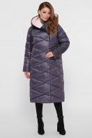 длинная зимняя куртка. Куртка 8230. Цвет: 41-графит купить