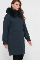 изумрудная куртка с мехом. Куртка М-67. Цвет: 13-изумруд цена