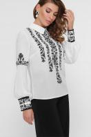 белая блузка с узором. Черный узор блуза Мика д/р. Цвет: белый цена