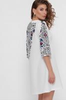 платье белого цвета с орнаментом. Орнамент платье Тая-1 3/4. Цвет: белый в интернет-магазине