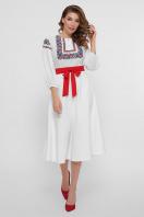 черное платье с орнаментом. Орнамент платье Сапфира д/р. Цвет: белый купить