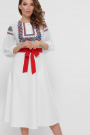 черное платье с орнаментом. Орнамент платье Сапфира д/р. Цвет: белый цена