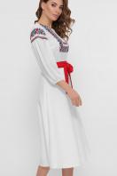 черное платье с орнаментом. Орнамент платье Сапфира д/р. Цвет: белый в интернет-магазине