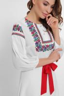черное платье с орнаментом. Орнамент платье Сапфира д/р. Цвет: белый в Украине