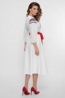 черное платье с орнаментом. Орнамент платье Сапфира д/р. Цвет: белый недорого
