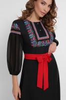 черное платье с орнаментом. Орнамент платье Сапфира д/р. Цвет: черный купить