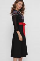 черное платье с орнаментом. Орнамент платье Сапфира д/р. Цвет: черный цена