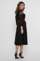 черное платье с орнаментом. Орнамент платье Сапфира д/р. Цвет: черный в интернет-магазине