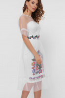 цветочное платье с сеткой сверху. Цветочный орнамент платье Уна б/р. Цвет: белый купить