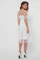 цветочное платье с сеткой сверху. Цветочный орнамент платье Уна б/р. Цвет: белый цена