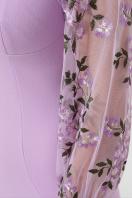 черное платье с вышивкой. платье Флоренция В д/р. Цвет: лавандовый 1 в Украине