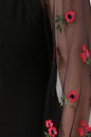 черное платье с вышивкой. платье Флоренция В д/р. Цвет: черный 1 в Украине