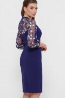 черное платье с вышивкой. платье Флоренция В д/р. Цвет: синий в интернет-магазине
