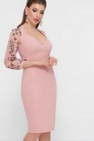 черное платье с вышивкой. платье Флоренция В д/р. Цвет: персик купить