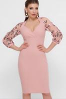 черное платье с вышивкой. платье Флоренция В д/р. Цвет: персик цена
