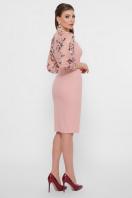 черное платье с вышивкой. платье Флоренция В д/р. Цвет: персик в интернет-магазине