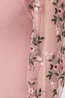 черное платье с вышивкой. платье Флоренция В д/р. Цвет: персик в Украине