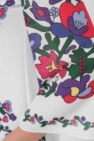 белое платье с орнаментом. Цветочный орнамент платье Кирма д/р. Цвет: белый в интернет-магазине