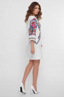 белое платье с орнаментом. Цветочный орнамент платье Кирма д/р. Цвет: белый в Украине