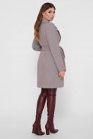 серое пальто с накладными карманами. Пальто ПМ-123. Цвет: 12-серый цена